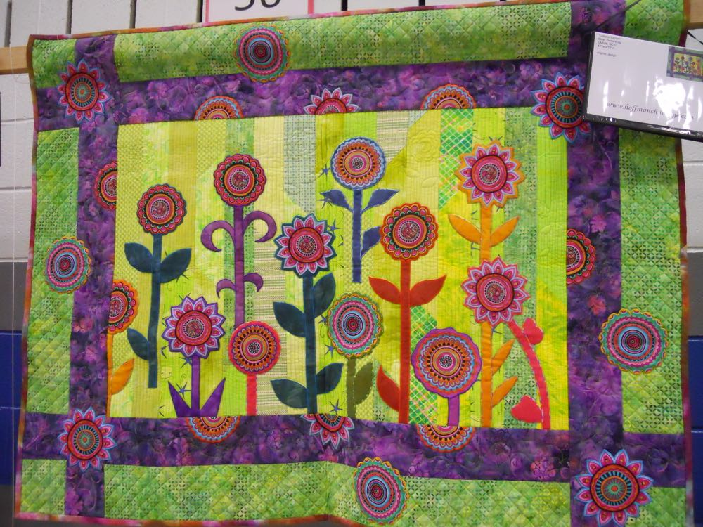 This Lollipop Garden handmade quilt wall hanging was featured at a 2015 quilt show. (Photo by Charlotte Ekker Wiggins)