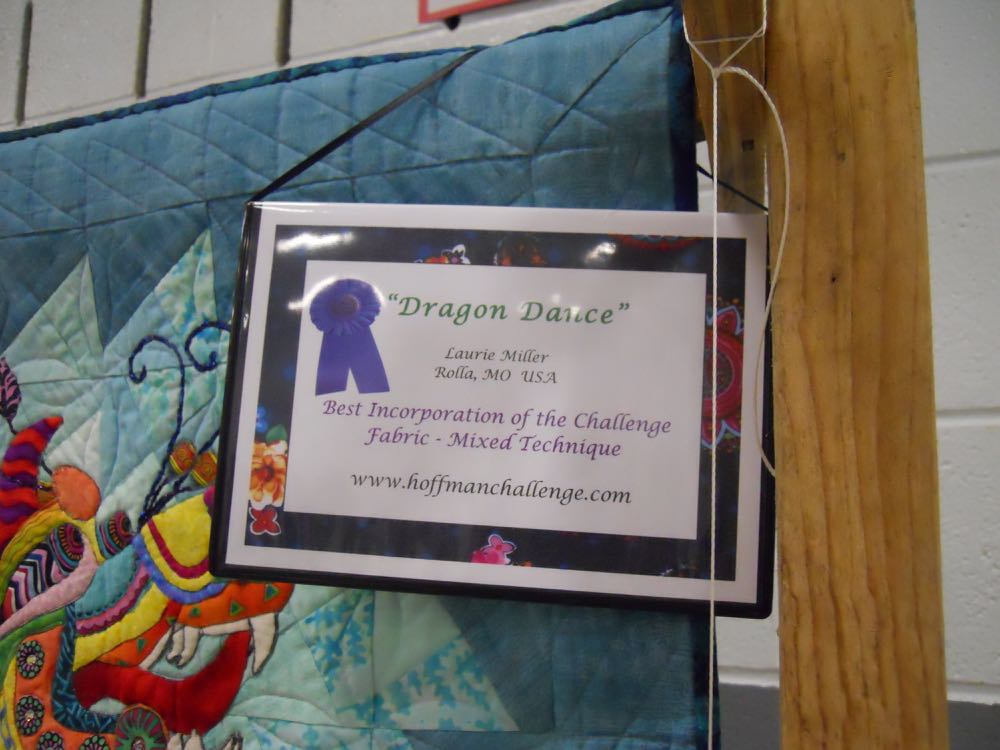Nice recognition of the lovely quilting work! (Photo by Charlotte Ekker Wiggins)
