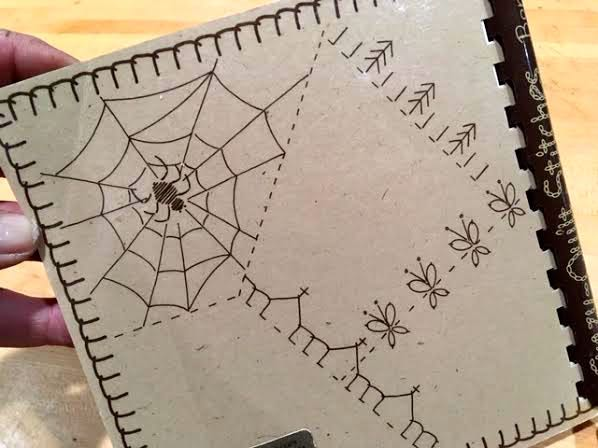 Have to try the little spider in its web on the book back! (Photo by Charlotte Ekker Wiggins)