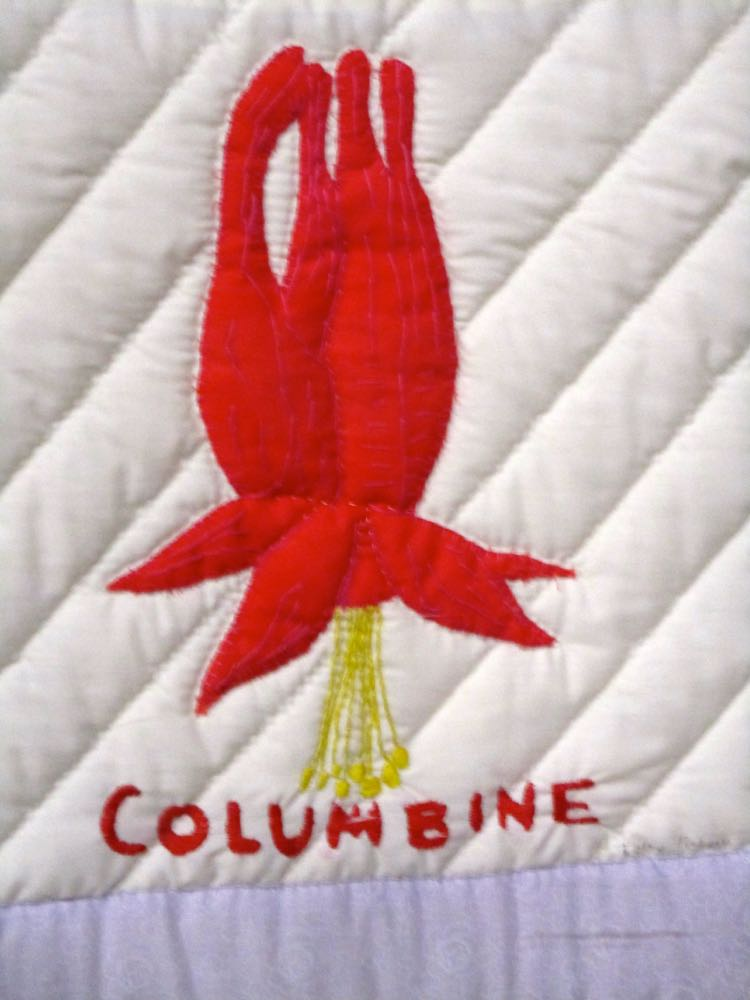 Wildflowers quilt columbine.jpg