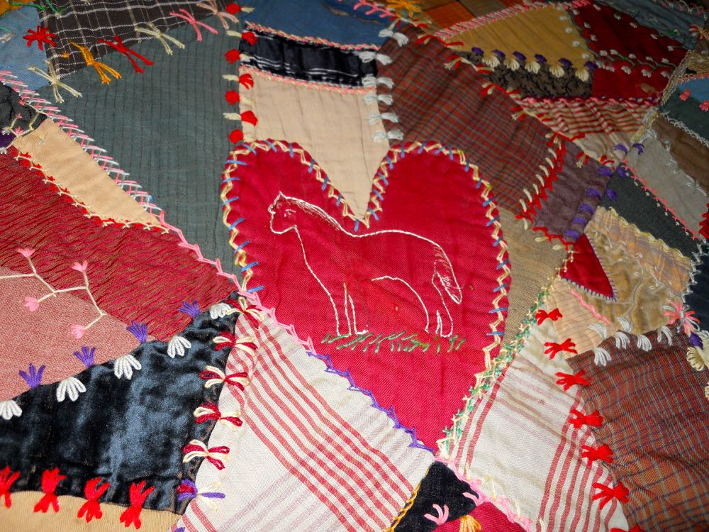 This embroidered horse towards the center is so charming. (Photo by Charlotte Ekker Wiggins)