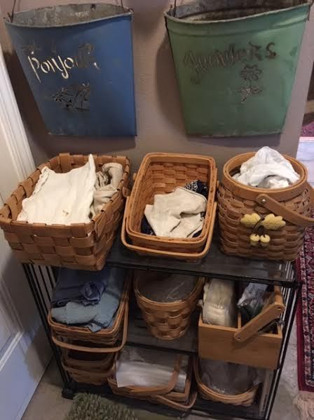 The baskets make a handy collection point. (Photo by Charlotte Ekker Wiggins)