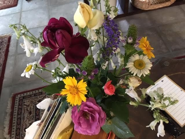 Two more flowers added to my coffee table flower bouquet. (Photo by Charlotte Ekker Wiggins)