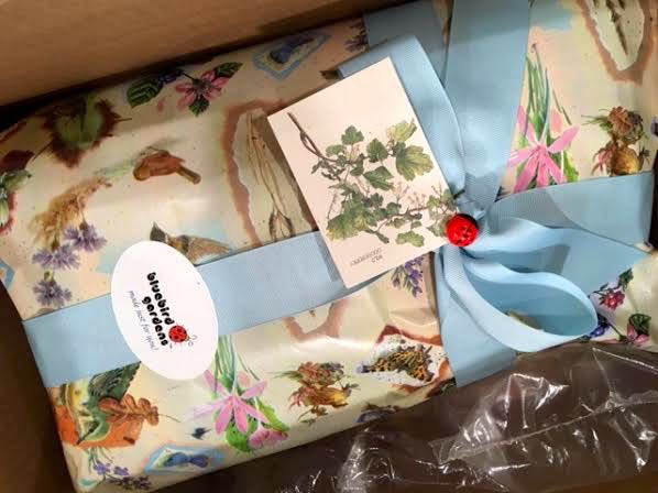 The customer was very happy to get this gift-wrapped personalized wedding gift. (Photo by Charlotte Ekker Wiggins)