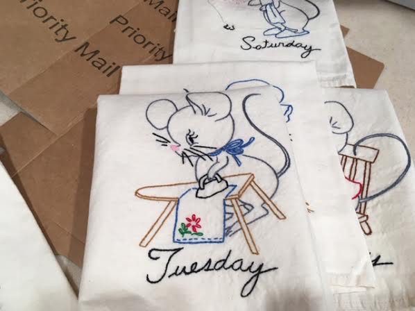 Tuesday's mouse kitchen towel is industrious and irons. (Photo by Charlotte Ekker Wiggins)