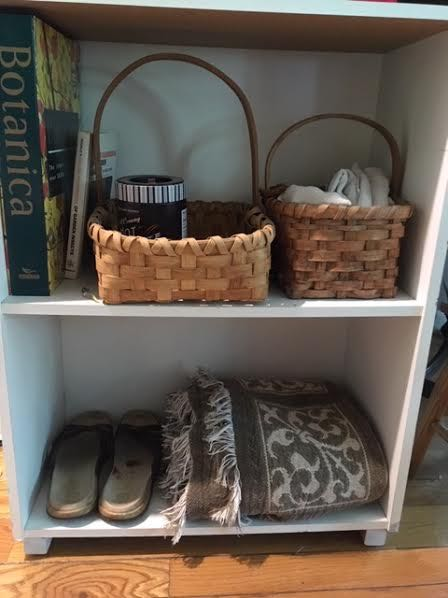 The book case is now a little mudroom by my front door. (Photo by Charlotte Ekker Wiggins)
