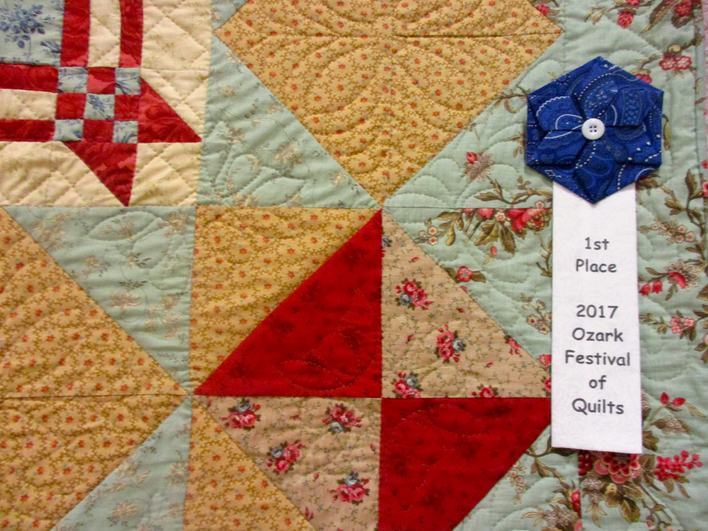 Women of Substance Handmade Quilt won first place at the local quilt festival. (Photo by Charlotte Ekker Wiggins)