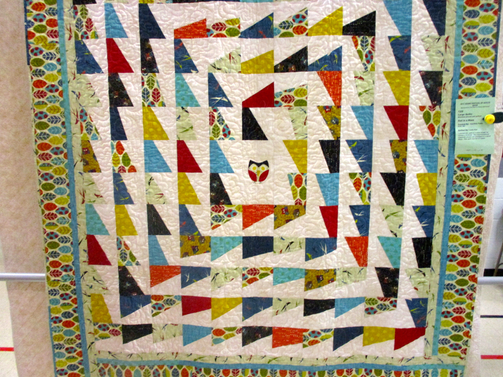 This patchwork owl is certainly the center of this handmade quilt. (Photo by Charlotte Ekker Wiggins)