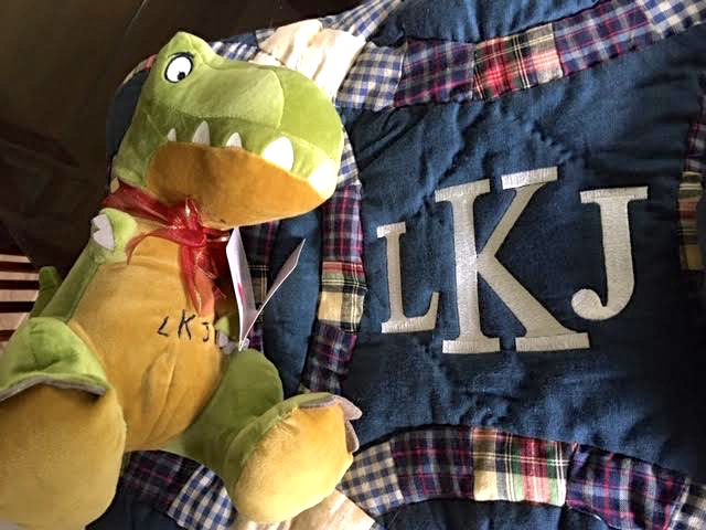 I added a personalized dinosaur to the personalized lap quilt. (Photo by Charlotte Ekker Wiggins)