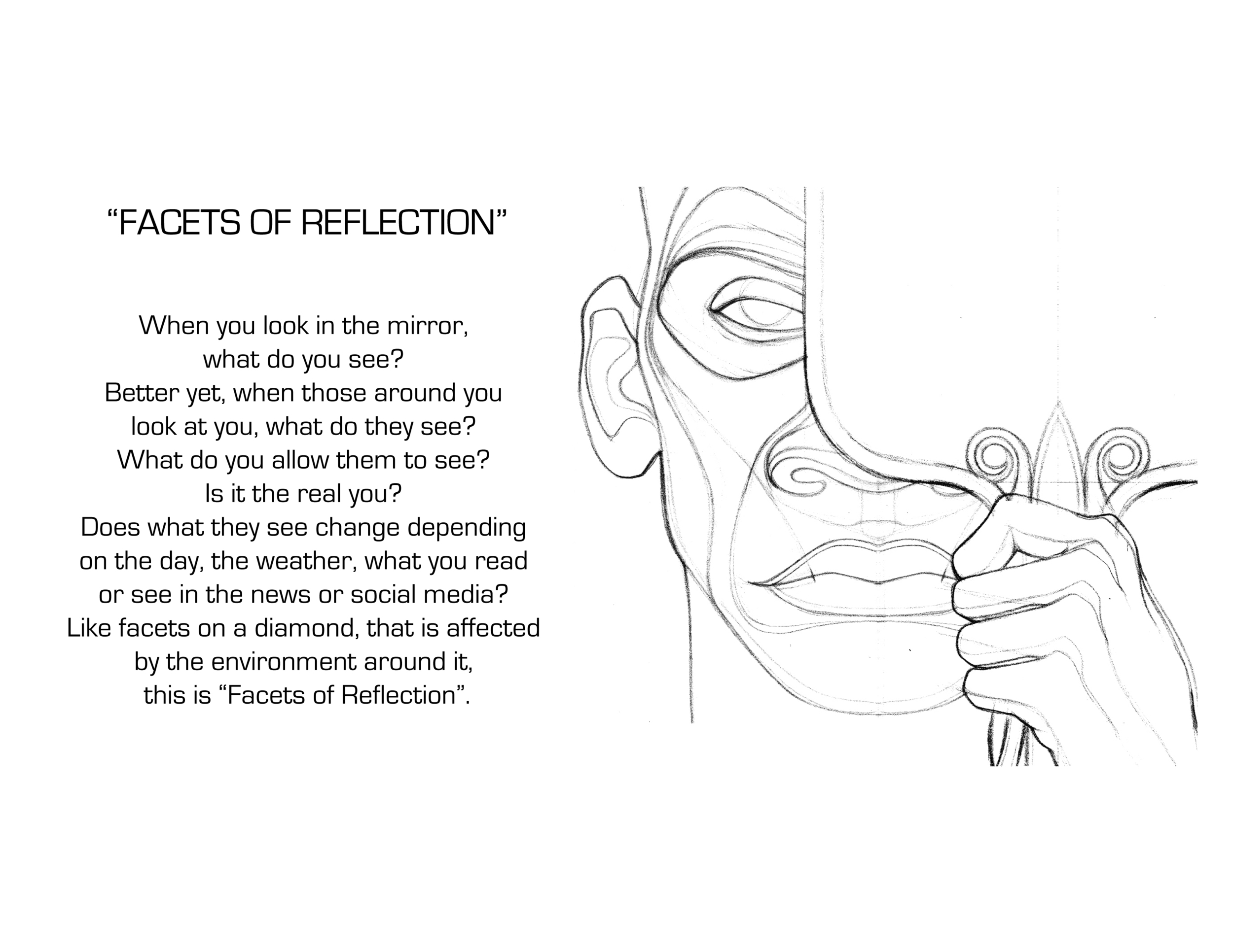 Facets of Reflection Sketch