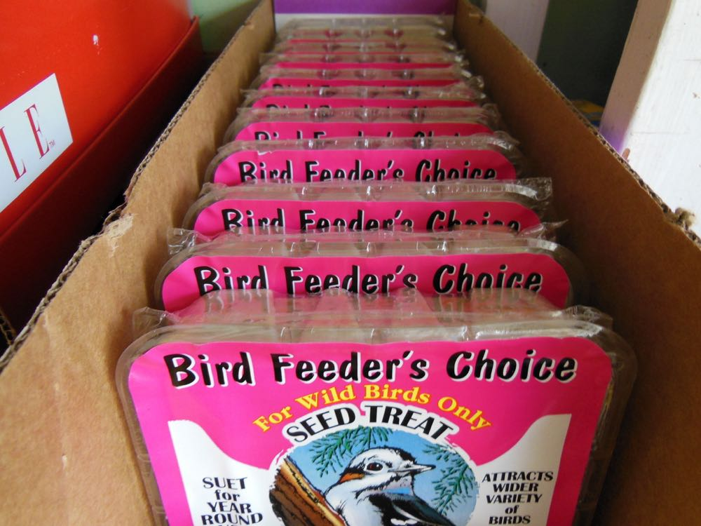 Most bird suet is packed in clear plastic containers that can easily be recycled.