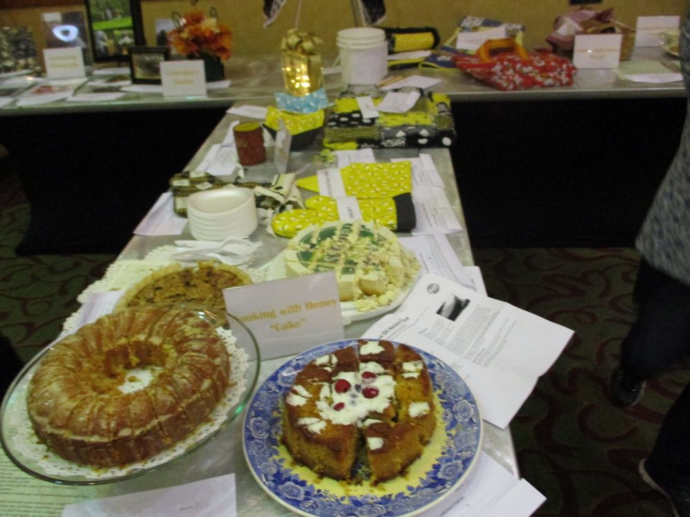 Fluffy Honey Orange Cake, left, among other entries in the state conference baking contest.