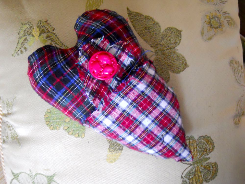 This heart pillow was a gift from one of our January 2018 beginning beekeeper students.