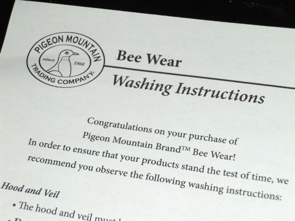 Doesn't this sound like instructions for how to wash clothing for bees??
