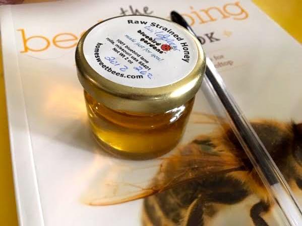 It took bees visiting 250,000 flowers to make this 2 oz honey jar. (Photo by Charlotte Ekker Wiggins)