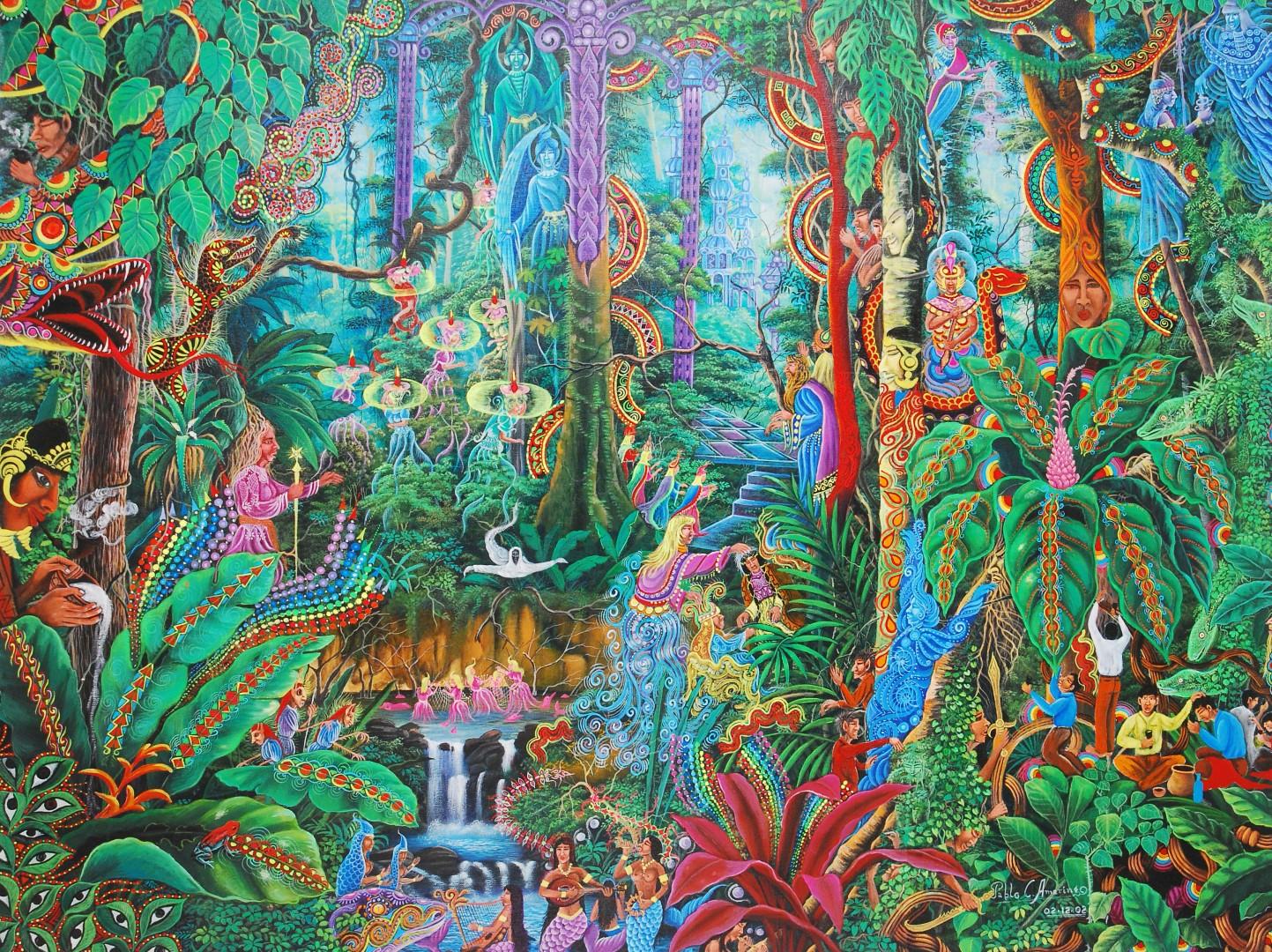 Visionary Artwork by Pablo Amaringo