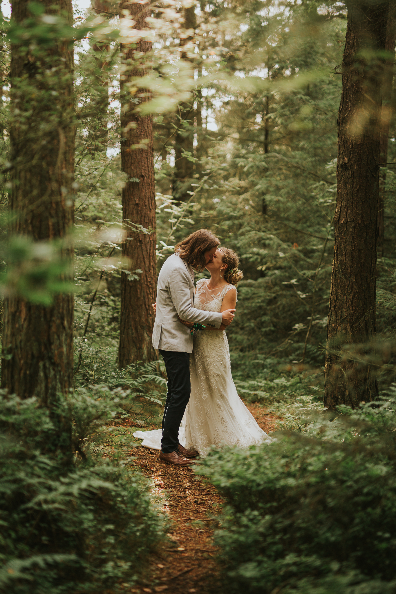 A Little Picture Wedding Photography woods boho creative