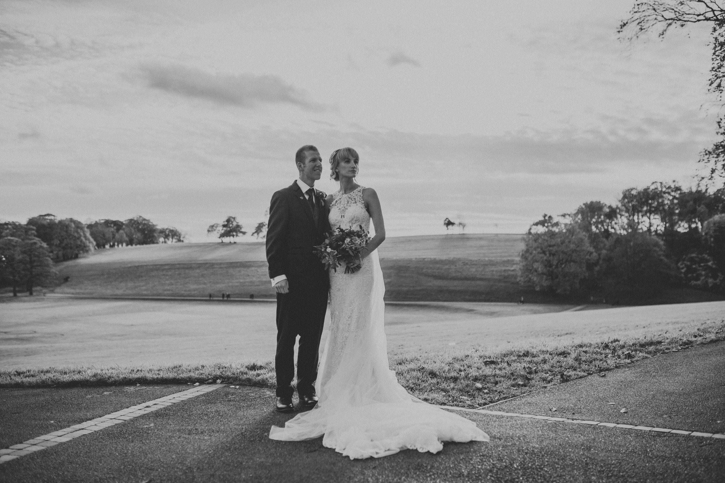 Natural wedding portrait photography yorkshire
