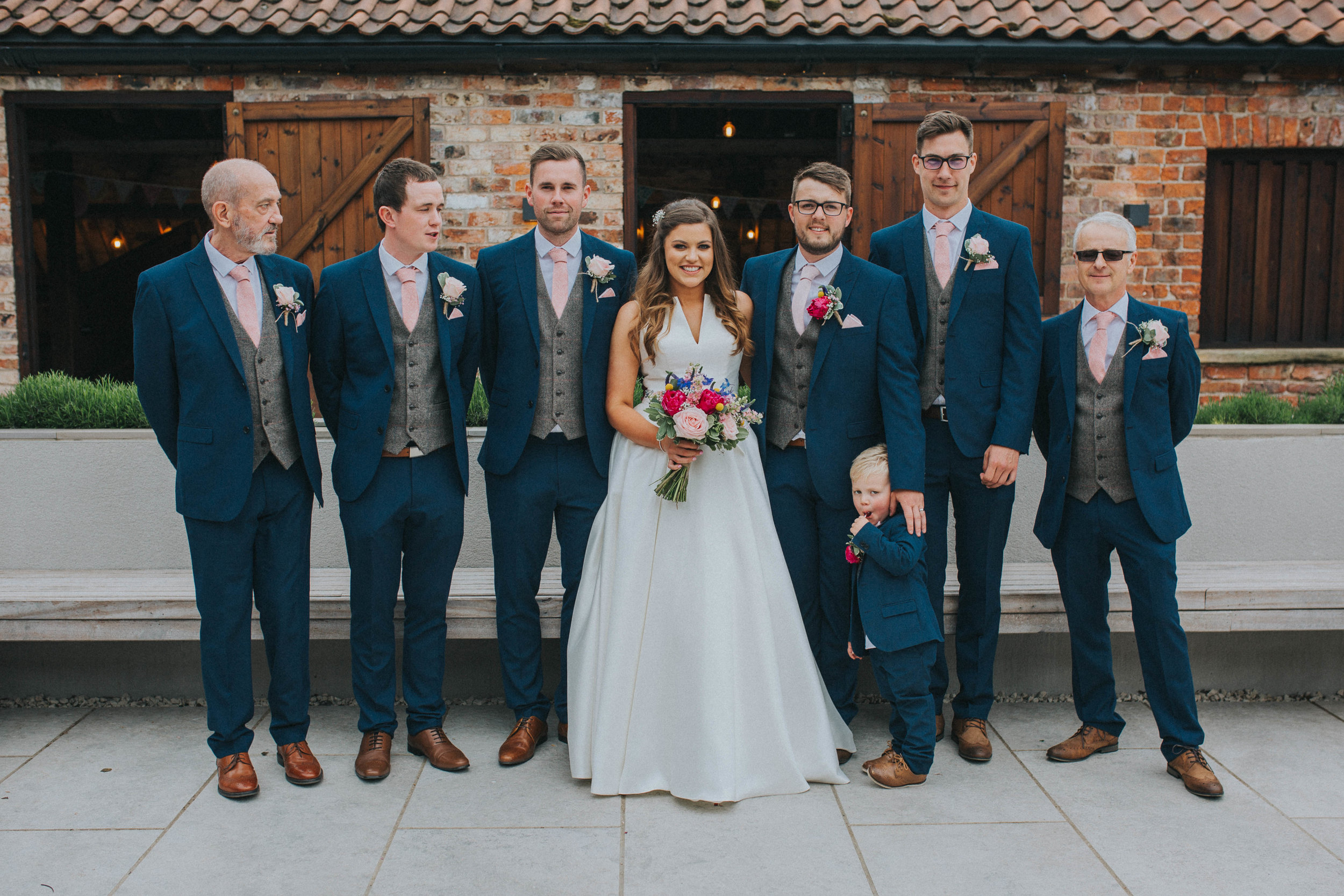 York colourful wedding photography at the normans