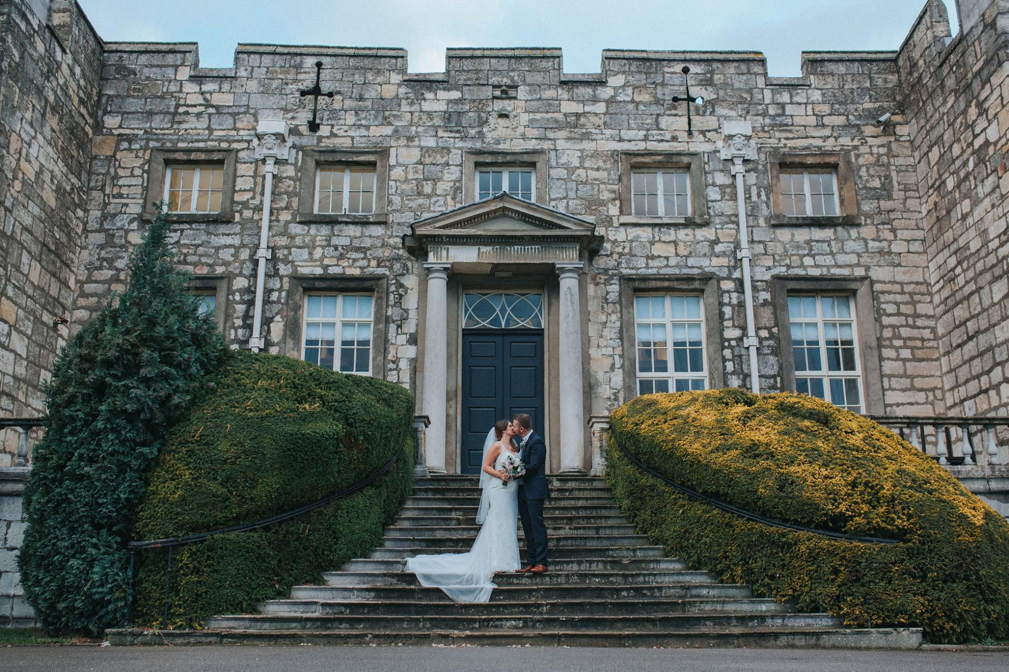 beautiful castle wedding photography york