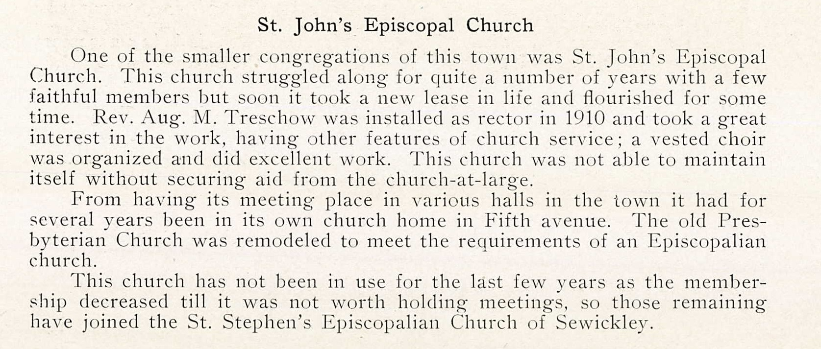History taken from the 1924 Coraopolis High School Review.