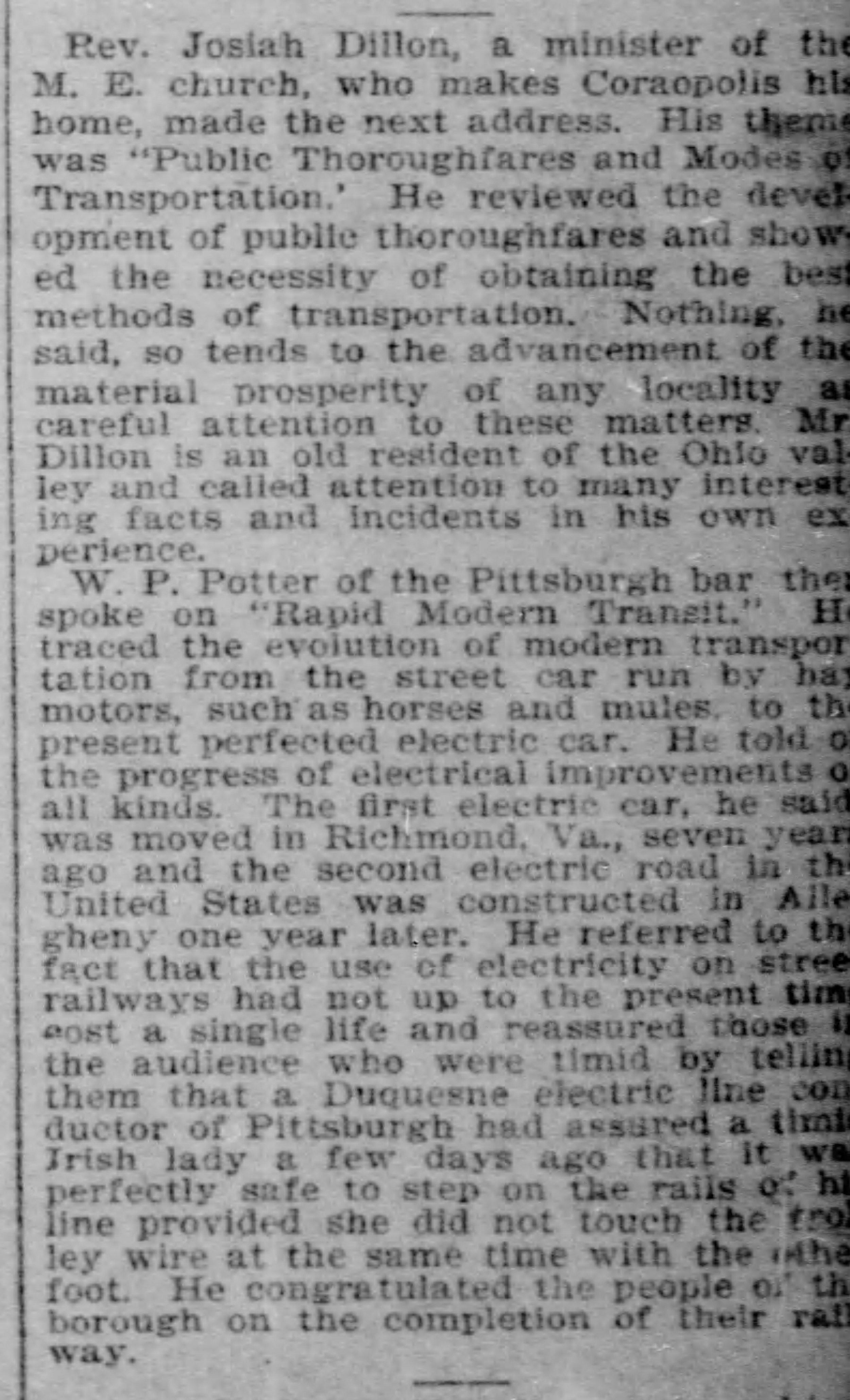 Pittsburgh Post Gazette, July 27, 1894