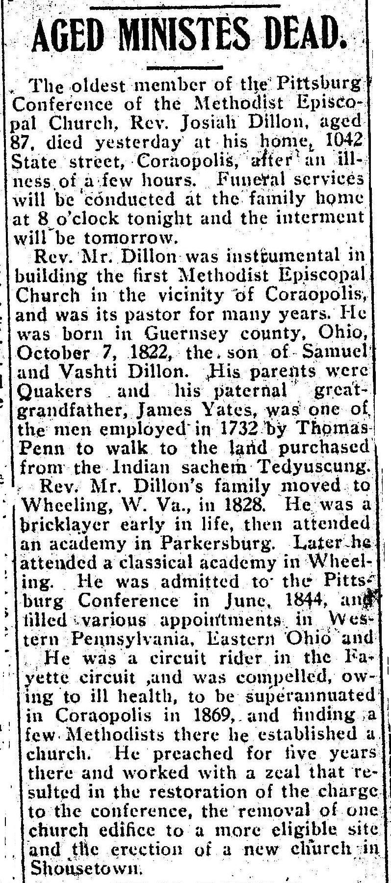 Pittsburgh Daily Post, November 4, 1909