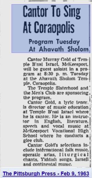 Pittsburgh Post-Gazette, Feb 9, 1963