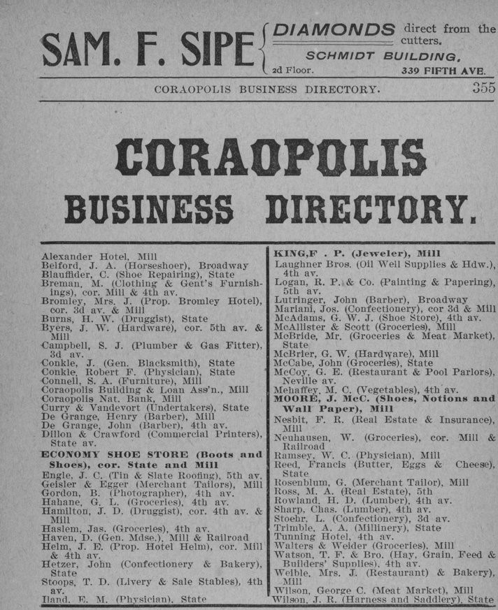 Watson & Co's classified business directory (1898), page 355