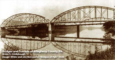 In this photo, the 1894 streetcar bridge can be seen in the background