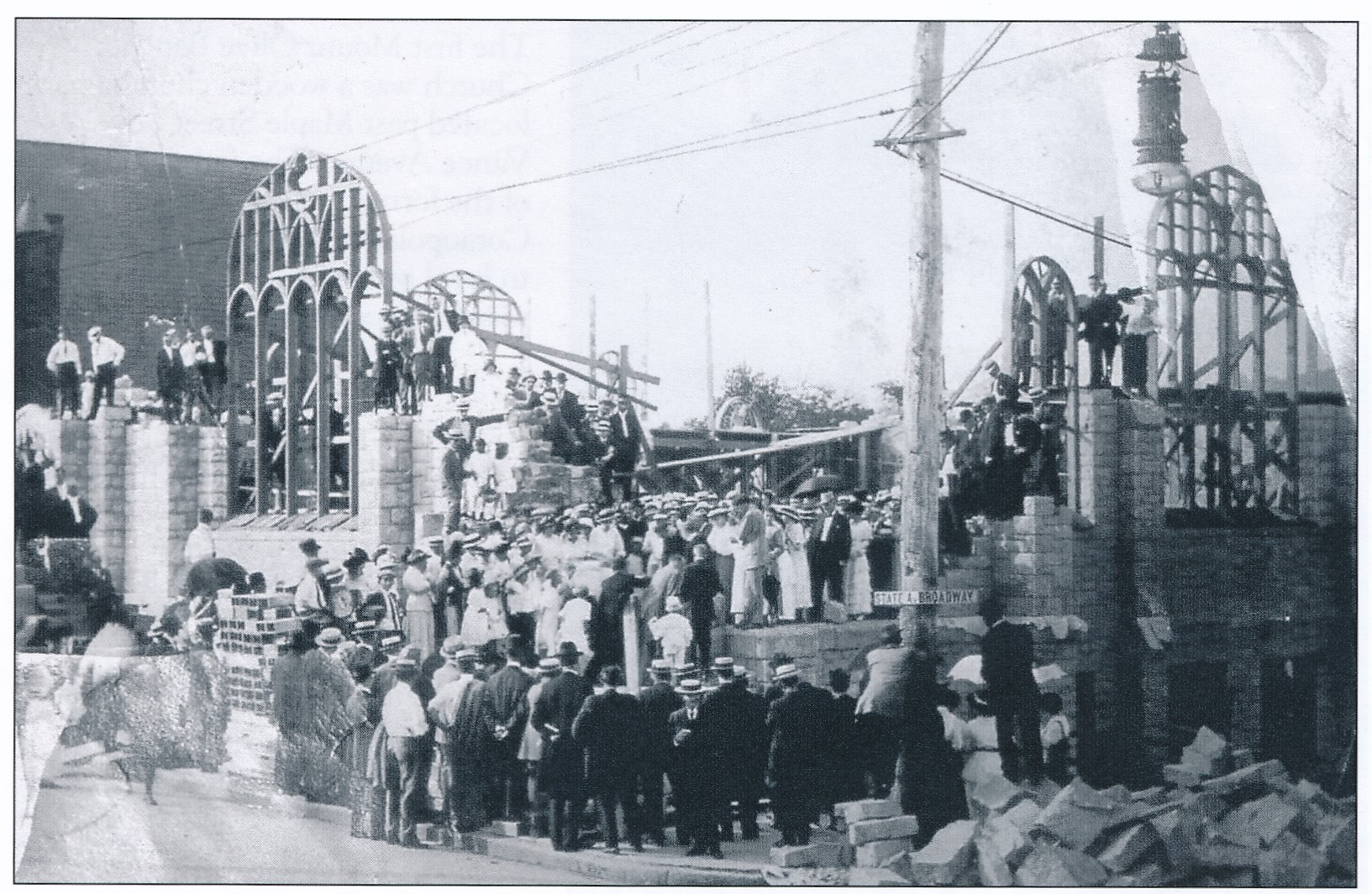 Building the Greystone Church on Broadway and 5th