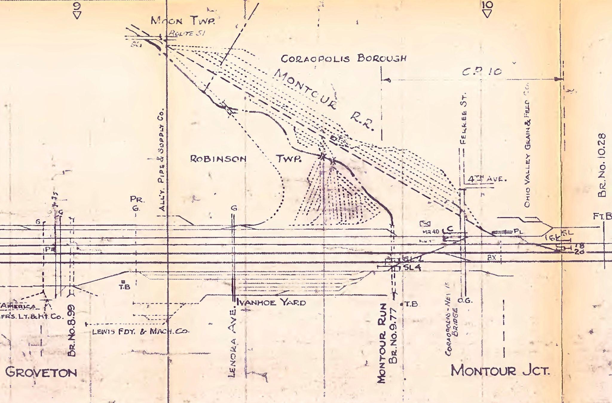 P&LE track diagram showing the interchange with Montour.jpg