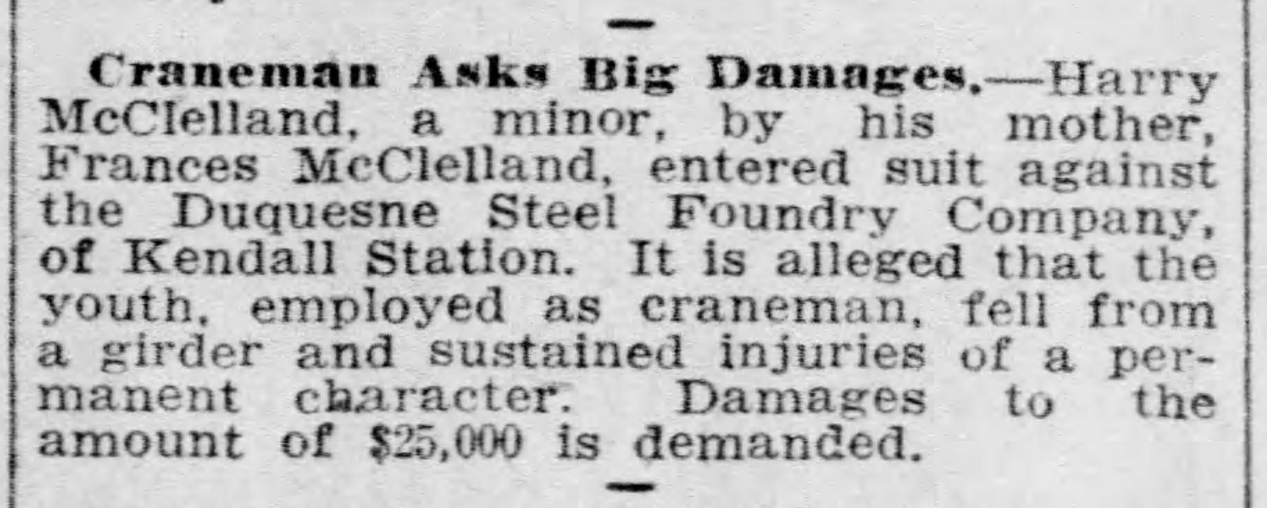 Pittsburgh Daily Post, March 12, 1909
