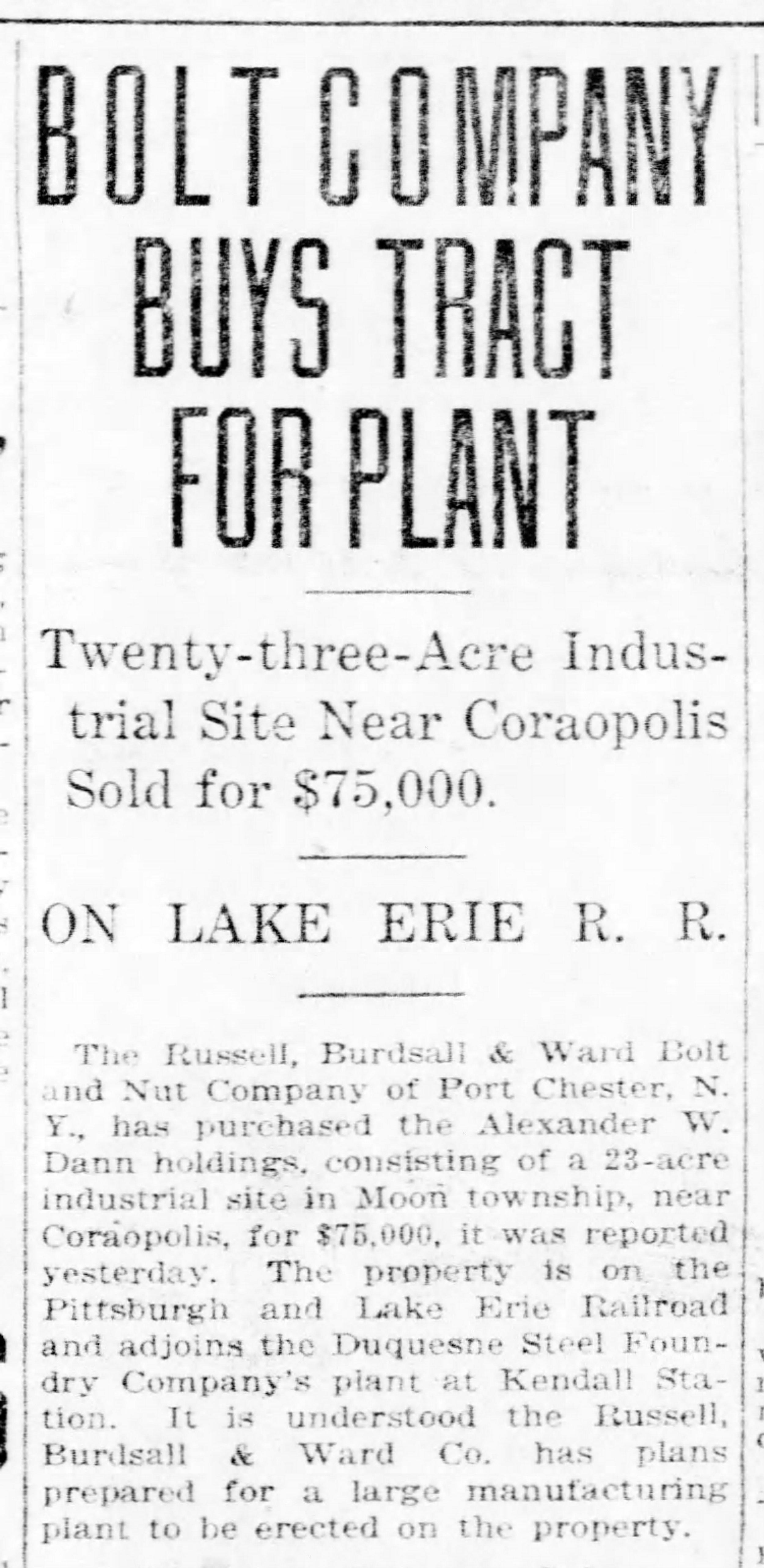 Pittsburgh Post Gazette, April 2, 1922