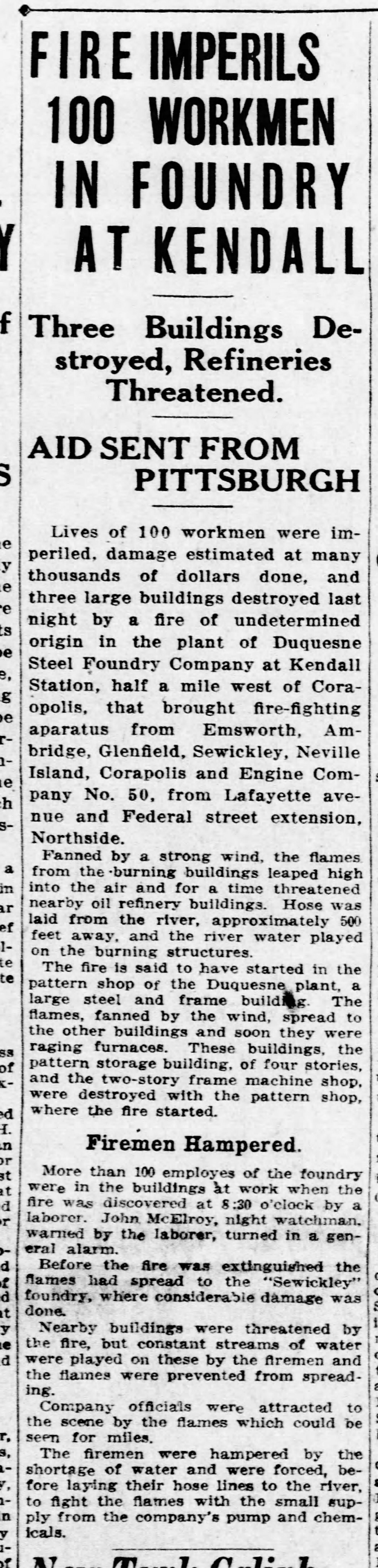 Pittsburgh Daily Post, November 21, 1922