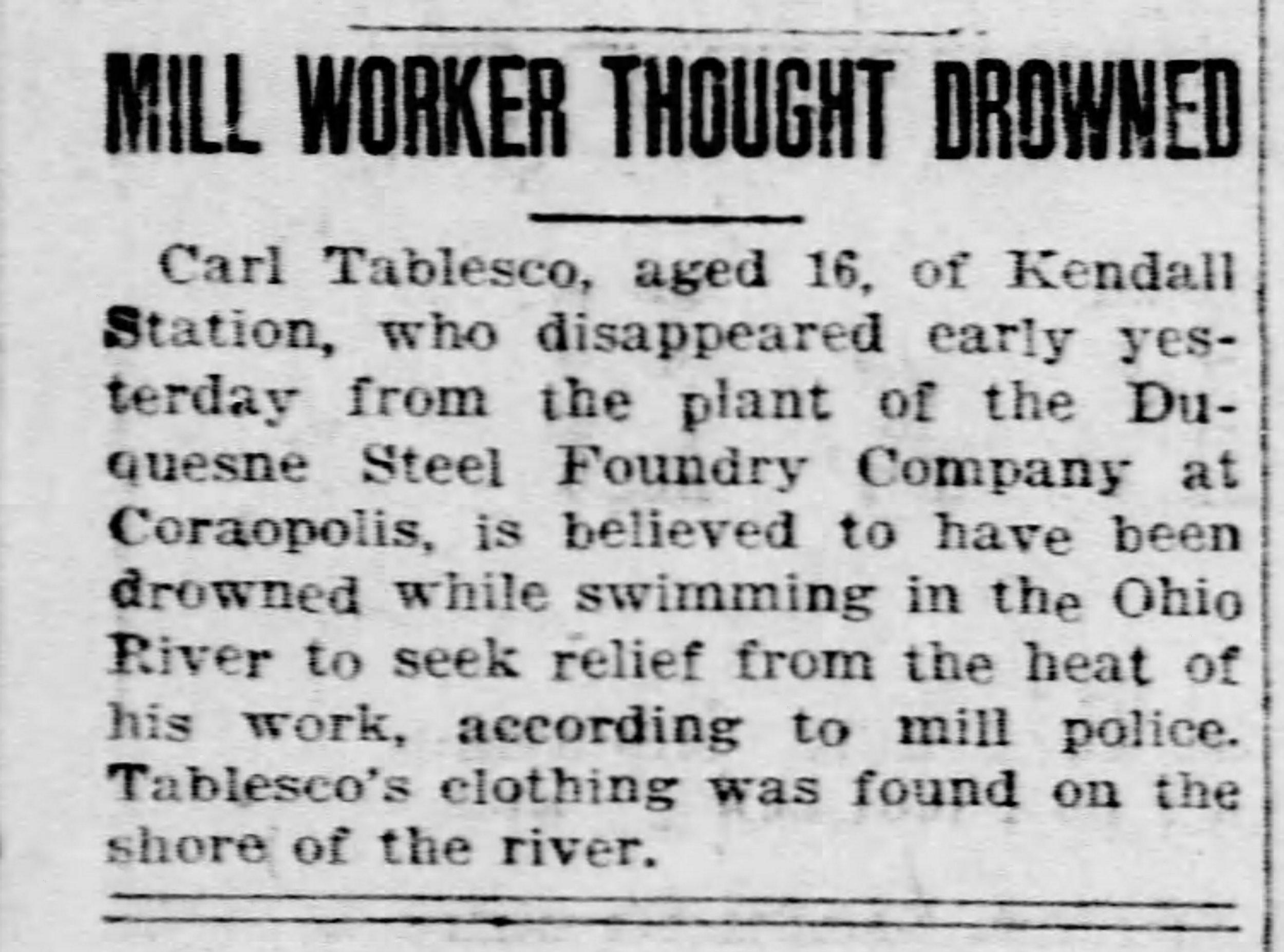 Pittsburgh Post Gazette, August 14, 1924