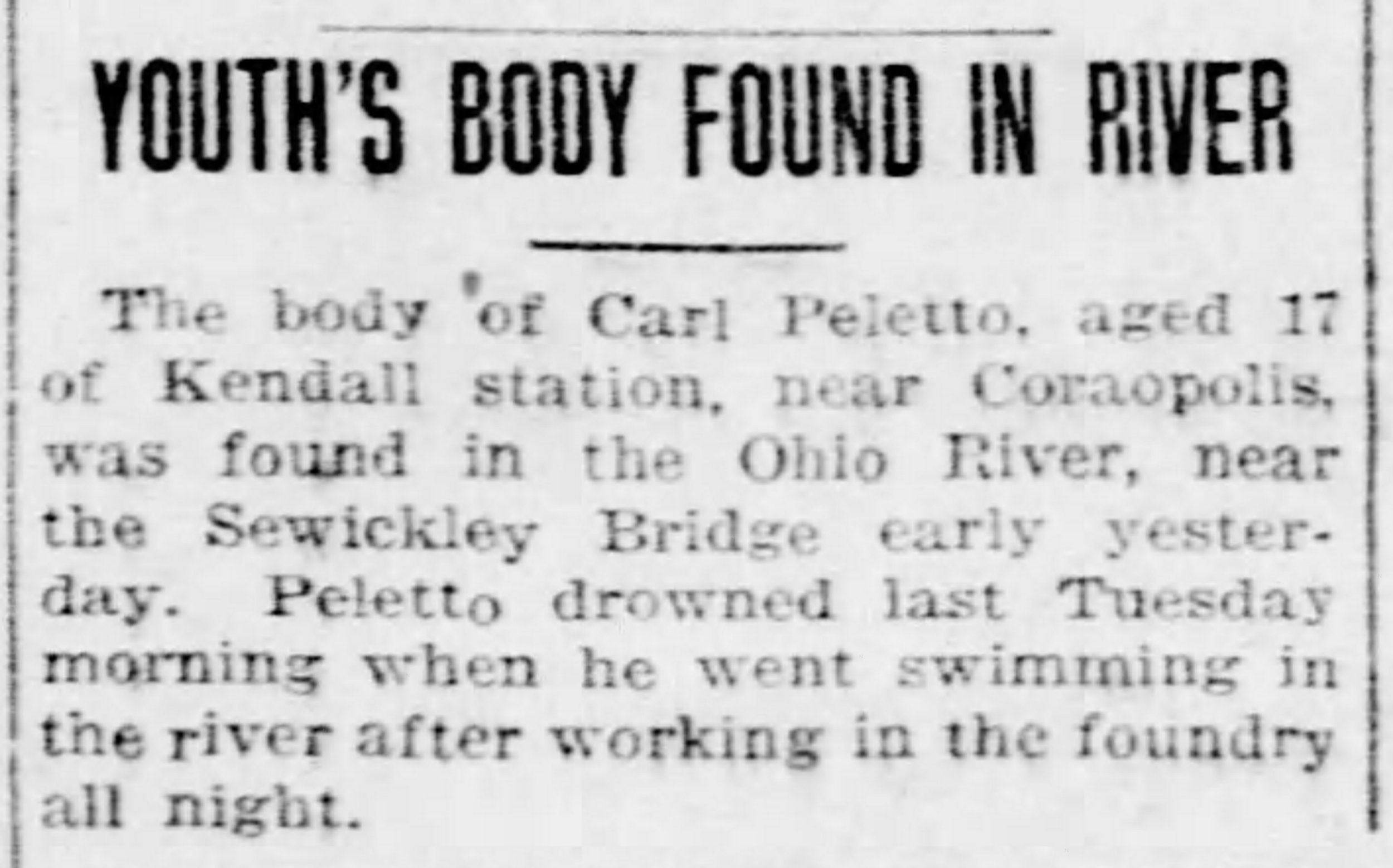 Pittsburgh Post Gazette, August 16, 1924