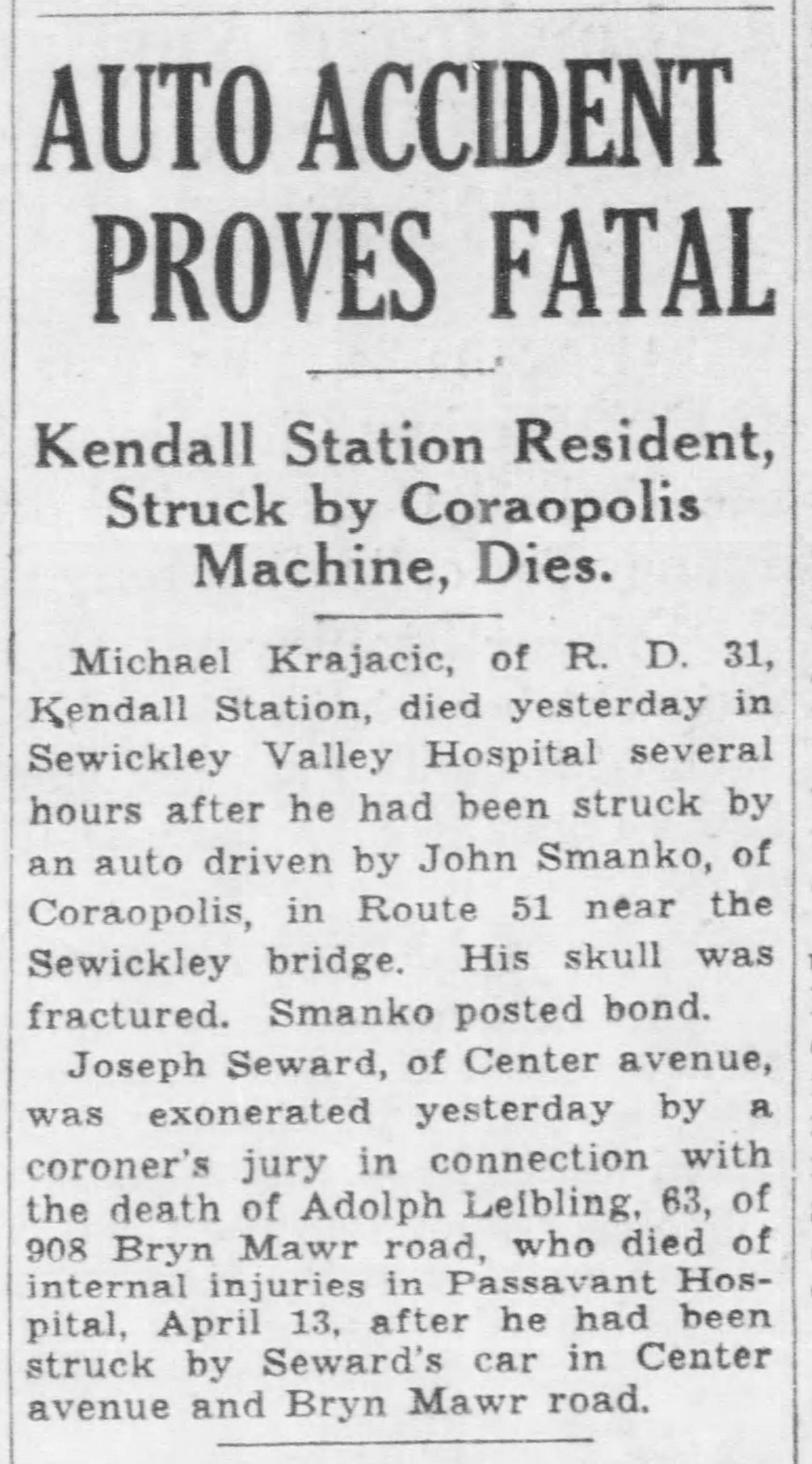 Pittsburgh Post Gazette, April 24, 1937