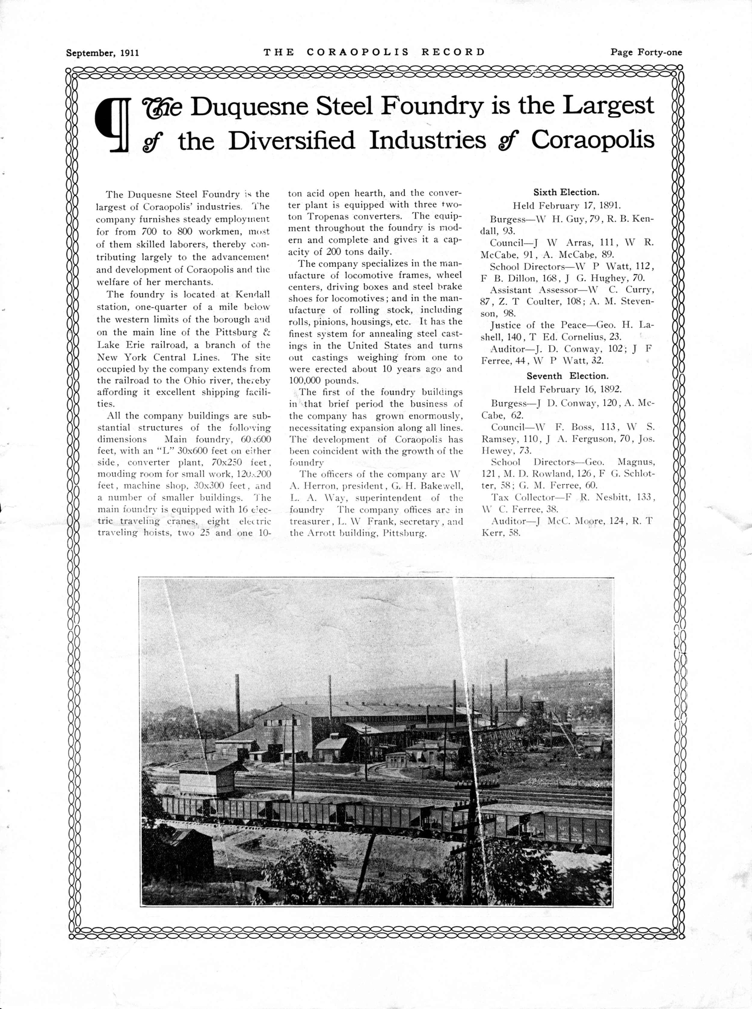 The Coraopolis Record, September 1911, page 41
