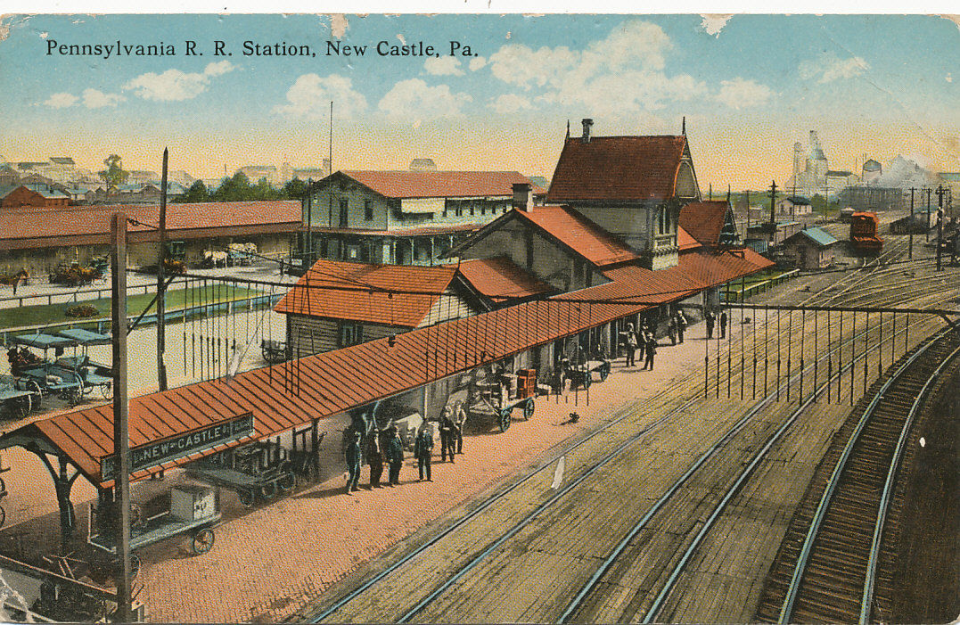 PRR Lawrence Junction Station - Located on the south side of West Washington Street between South Front Street and the river. Built in 1878 and torn down in 1962. Problems: Wrong Railroad. Wrong location. Wrong build date. No architectural commonalities.