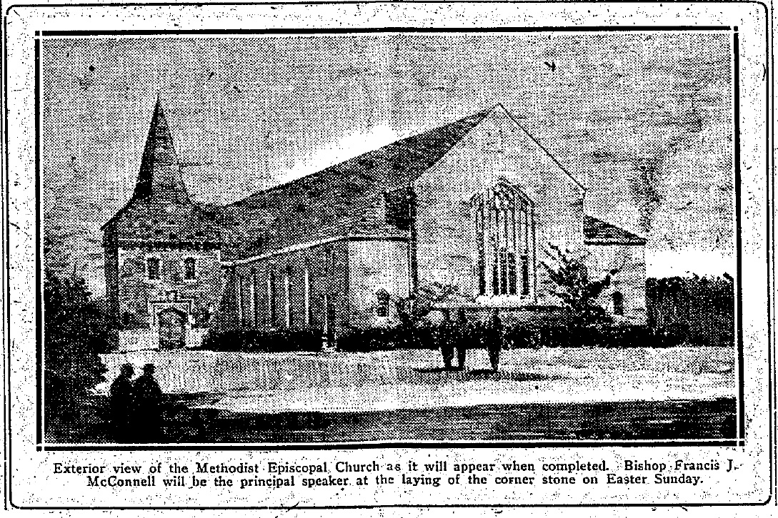 1924-04-11 The Coraopolis Record - proposed Methodist Episcopal Church