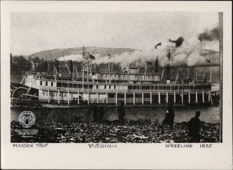The  Virginia  Riverboat, 1895 in Wheeling
