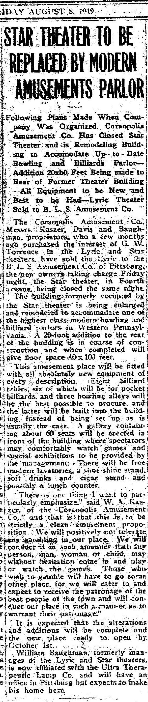1919-08-08 Star Theater - The Coraopolis Record (vXIV, n23 , p1).jpg