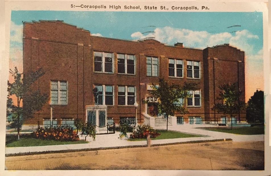 Coraopolis High School on State Street, 1935.jpg