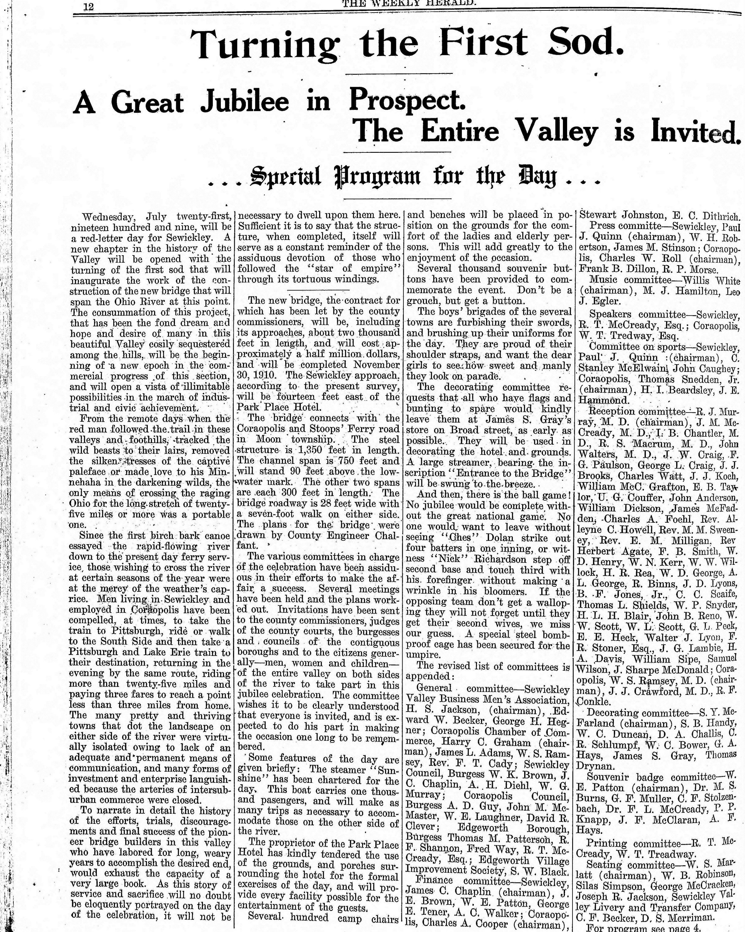 1909-07-17 The Weekly Herald (Sewickley Herald) - Turning the First Sod (pg12).jpg