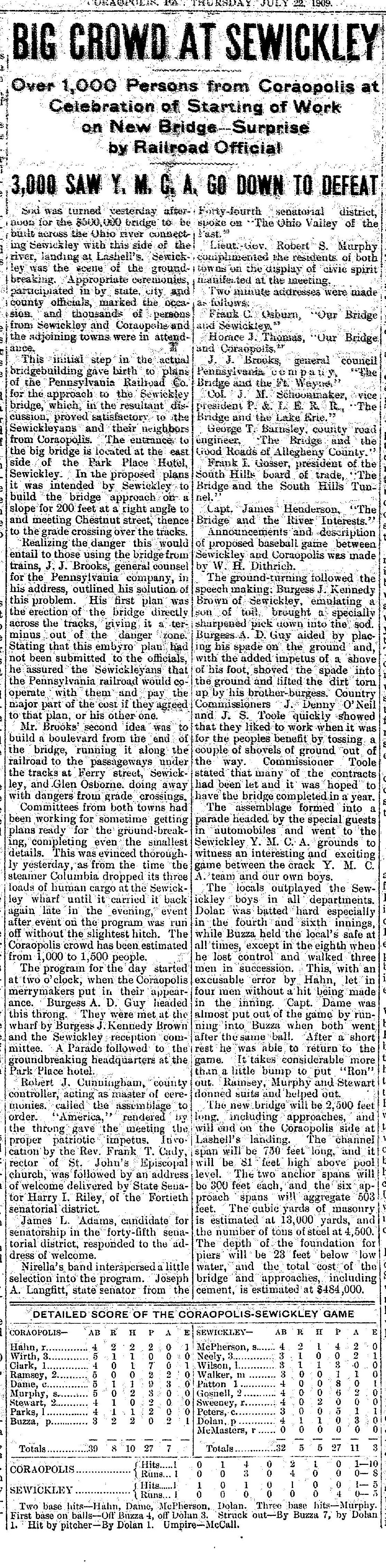 1909-07-22 The Coraopolis Record (vol IV, No21, p1).jpg