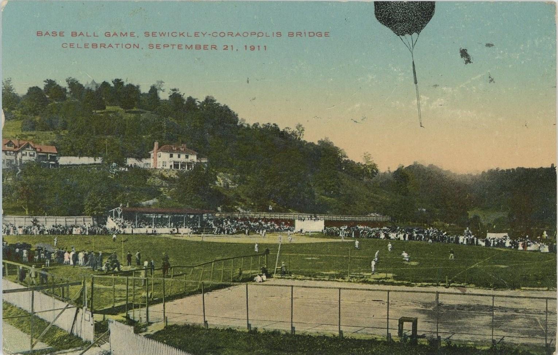 1911 Sewickley Coraopolis Bridge Baseball Game.jpg