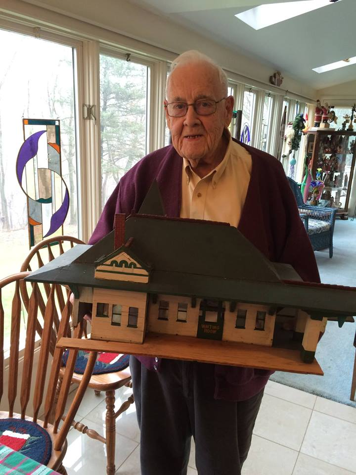 Jack Miller of Moon Township has donated a 1930s replica of the station crafted by his father which he enjoyed playing with as a child.