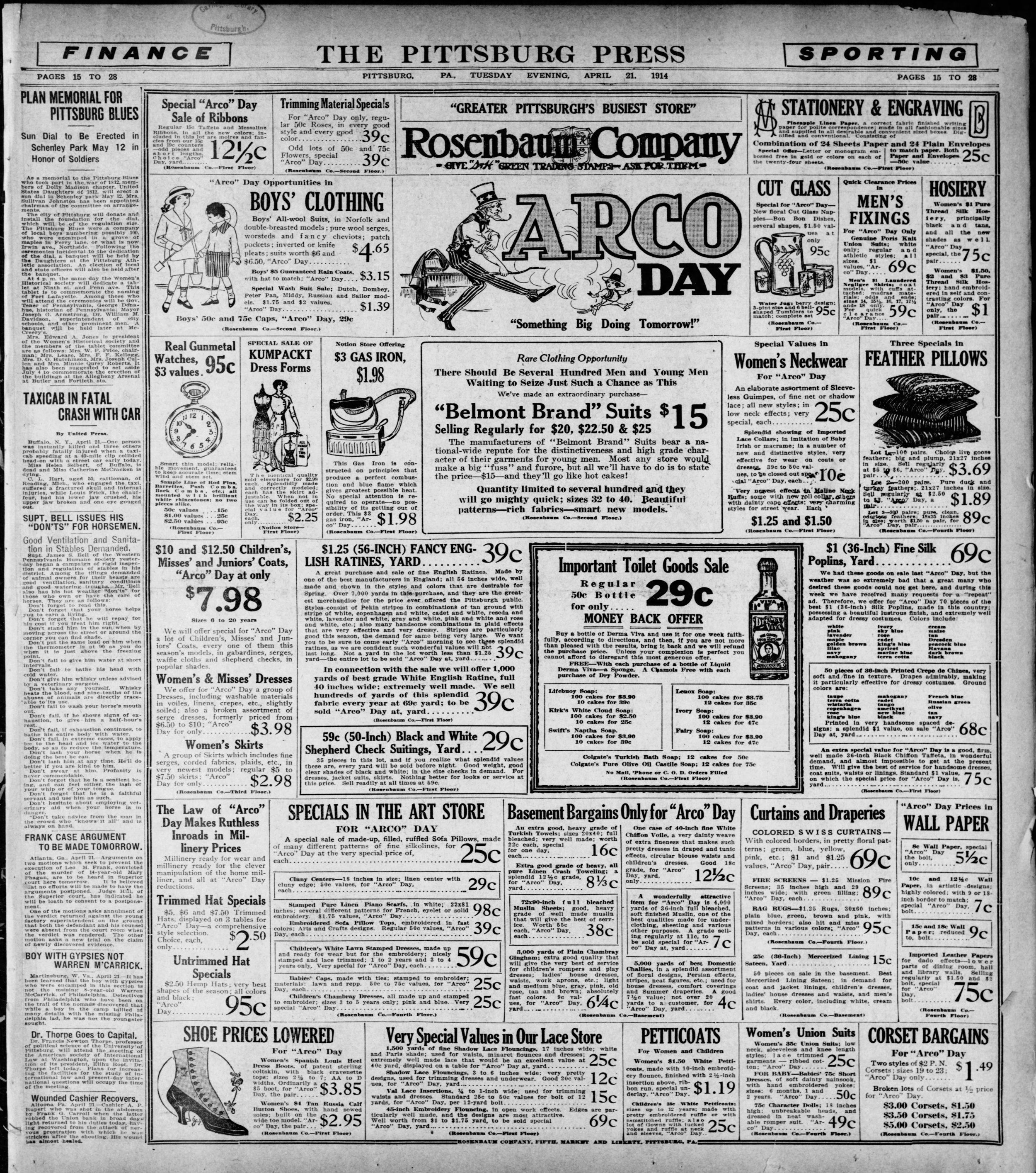 Digital copy of the newspaper found in the Coraopolis Station