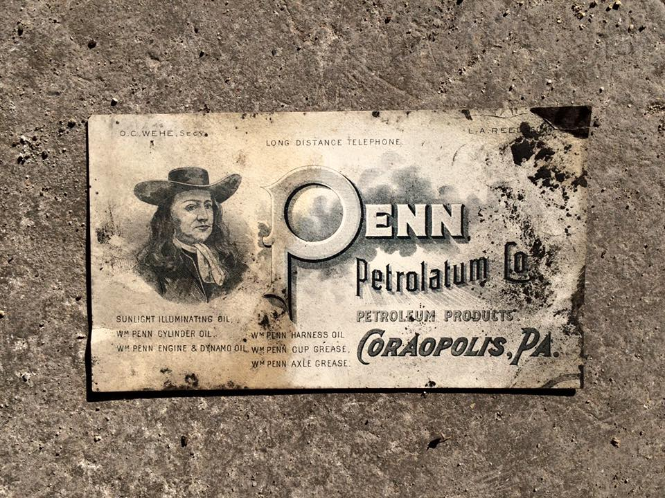 A business card for the Penn Petrolatum Company once located in Coraopolis.jpg
